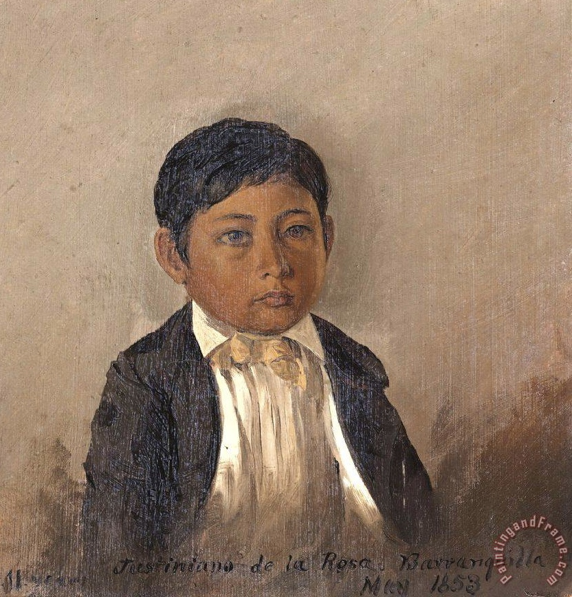 Colombia, Barranquilla, Portrait of Boy Painting by Frederic Edwin Church; Colombia, Barranquilla, Portrait of Boy Art Print for sale