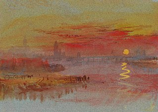 The Scarlet Sunset circa 1830-40 Joseph Mallord William Turner 1775-1851 Accepted by the nation as part of the Turner Bequest 1856 http://www.tate.org.uk/art/work/D24666
