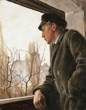 Ole Ring looks over Roskilde.*oil on canvas.*36,5 x 28 cm.*signed b.l.: L.A. Ring 1925