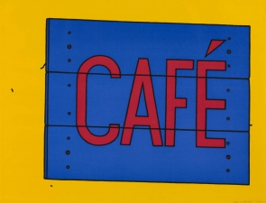 Cafe Sign 1968 Patrick Caulfield 1936-2005 Presented by Rose and Chris Prater through the Institute of Contemporary Prints 1975 http://www.tate.org.uk/art/work/P04084