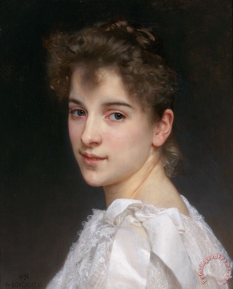 Gabrielle Cot, Daughter of Pierre Auguste Cot Painting by William Adolphe Bouguereau; Gabrielle Cot, Daughter of Pierre Auguste Cot Art Print for sale