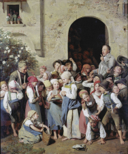 School's out, by Ferdinand Georg Waldmüller